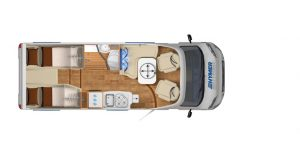 Vermietung Wohnmobile + Caravans | Klasse 3 | Grundriss