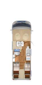 Vermietung Wohnmobile + Caravans | Klasse 5 | Grundriss