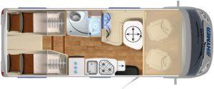 Vermietung Wohnmobile + Caravans | Klasse 6 | Grundriss