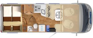 Vermietung Wohnmobile + Caravans | Klasse 7 | Grundriss