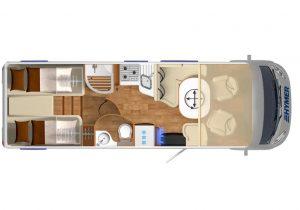 Vermietung Wohnmobile + Caravans | Klasse 8 | Grundriss